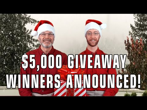 Announcing The Winners Of Our $5,000 Giveaway!