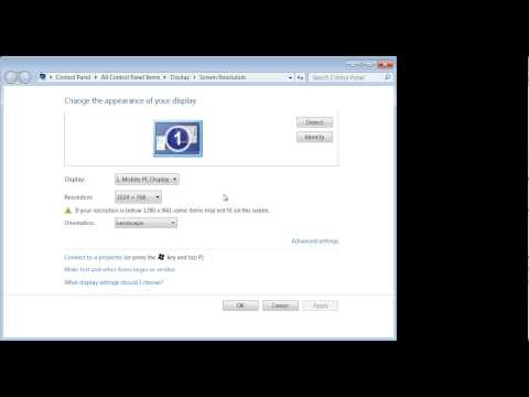 Windows 7: How to adjust your screen resolution, great if you hook up external monitor