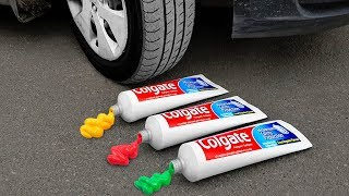 Experiment: Car Vs Giant Toothpaste
