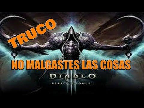 Diablo 3 RoS TRUCO no MALGASTES las COSAS (PS3 - 360)