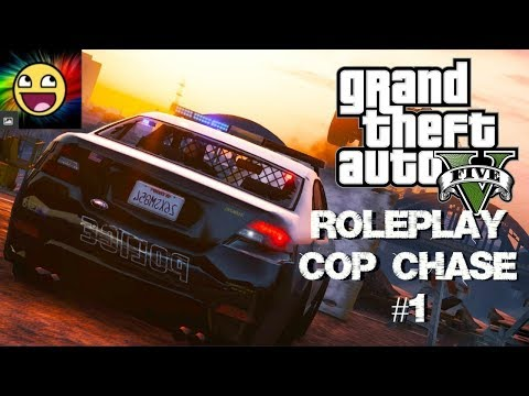 GTA V = Los Angeles RP = Cop Chase! #1