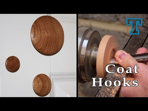 Woodturning: Cherry Wood Coat Hooks on the Lathe