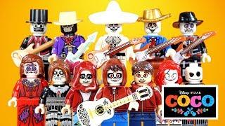 Disney Pixar Coco El Día De Los Muertos W/ Miguel Hector & Ernesto Unofficial Lego Minifigures