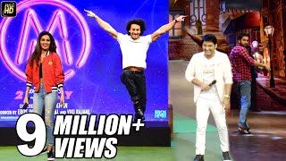 Download Tiger Shroff,Nidhi Agarwal FUNNY Moments On The Kapil Sharma Show During Munna Micheal Promotions Video