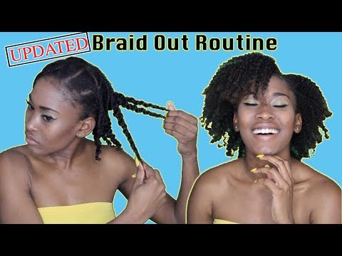 Updated Braid Out Routine| Type 4 Hair