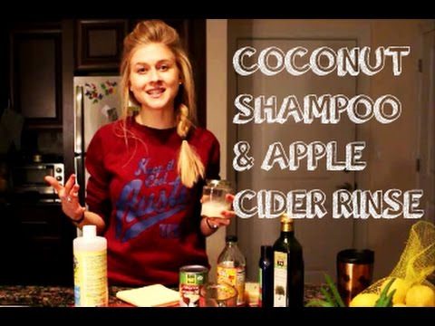 DIY COCONUT SHAMPOO & APPLE CIDER HAIR RINSE. RECIPES THAT WORK.