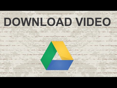 How to download video from Google Drive