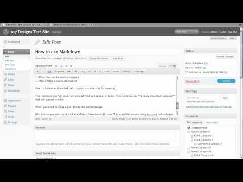 Using Markdown in WordPress