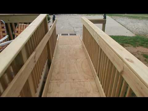 Handicap porch ramp/Deck Built by an amateur