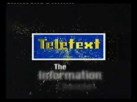 Teletext Ad for UK TV Teletext service