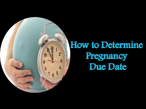 How to Determine Pregnancy Due Date