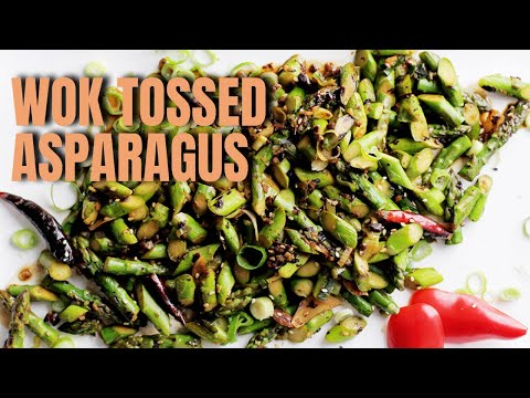 Andrew Zimmern Cooks: Wok-Tossed Asparagus in Black Bean Sauce