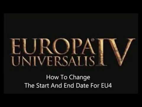 How To Change The Start and End Date EU4 - No Mods