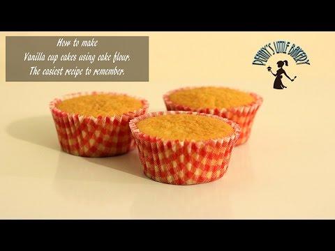 Easiest vanilla cake/cupcake recipe and tutorial