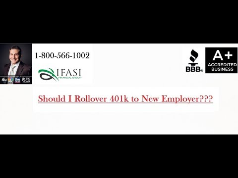 Rollover 401k to New Employer - Should I Rollover 401k to New Employer