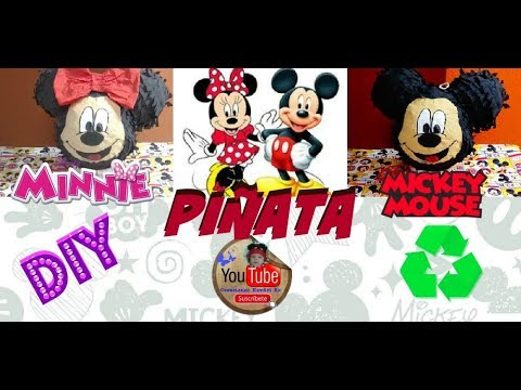 Como hacer una piñata de Minnie* Mickey DIY  Reciclaje MUY FÁCIL/How to make a Pinata- Birthday Idea