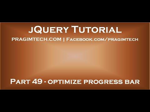 optimize jquery progress bar