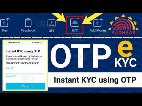 Paytm self KYC OTP verification VIP customer