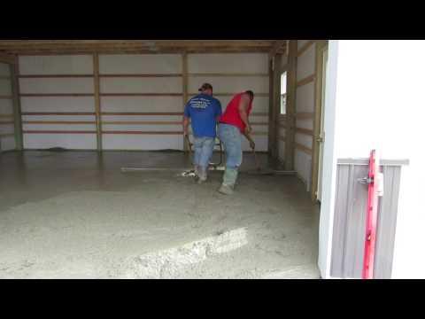 Smooth Finish Concrete Floor - NewPoleBarn.com