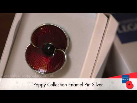 Poppy Collection Pin Silver Tone