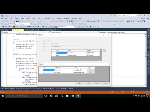 C# Tutorial - Insert Update Delete into multiple tables in SQL Server Part 1 | FoxLearn