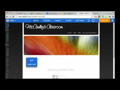 Embed Google Calendar into a Weebly Site