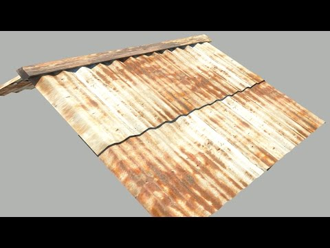 Maya tutorial:How to model a Tin Roof