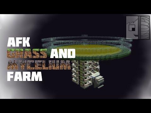 Minecraft: AFK Grass & Mycelium Farm / Converter 1.12 (6800 Items/h  no Silk Touch)