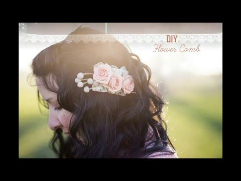 How To Make Tiny Flower Hair Comb