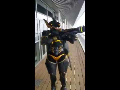 Anubis Pharah fully operational cosplay with moving wings by Germia