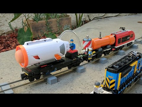 Nerf missile on a Lego train
