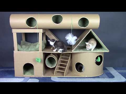 How to Make Amazing Kitten Cat House from Cardboard DIY Cat House
