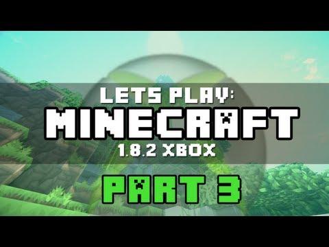 Lets Play Minecraft Xbox 360: 1.8.2 Update | Part 3 NPC Village Exploration! :D