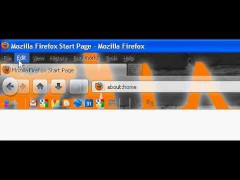 Firefox Help (How To Change The Menu Bar)