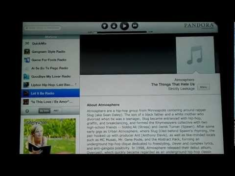 IPAD - How To listen to Pandora outside the us (FAST n EASY)