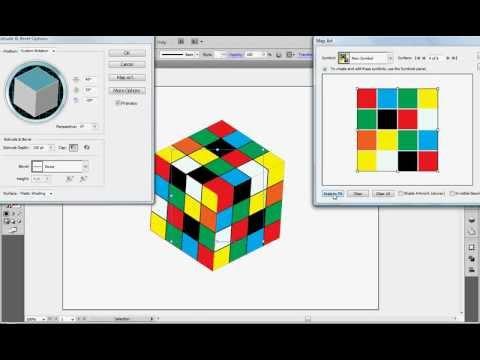 3D Rubik's Cube tutorial in illustrator....