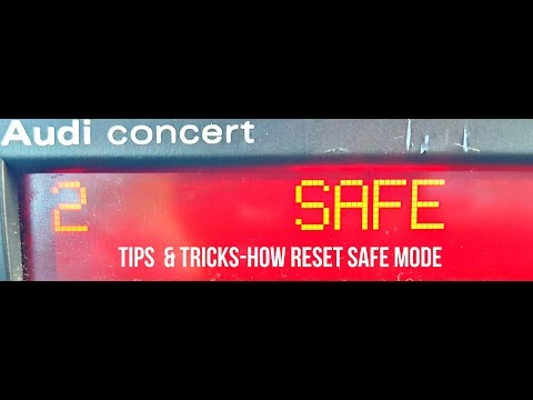 2 SAFE | AUDI RADIO SAFE MODE | HOW RESET SAFE MODE 2 | Разблокировка магнитолы Audi Concert