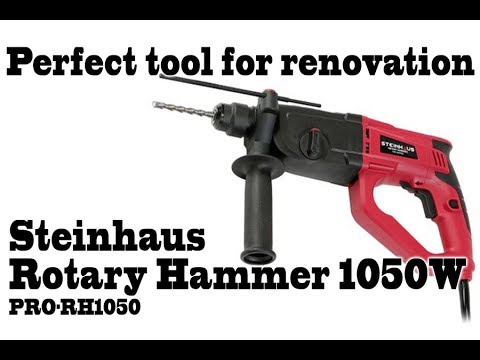 Steinhaus Rotary Hammer PRO-RH1050, 1050W, drill tool for your house, drill into walls concrete