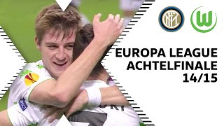 De Bruyne, Knoche & Bendtner Tor   Inter Mailand - VfL Wolfsburg 1:2   EL-Achtelfinale 14/15