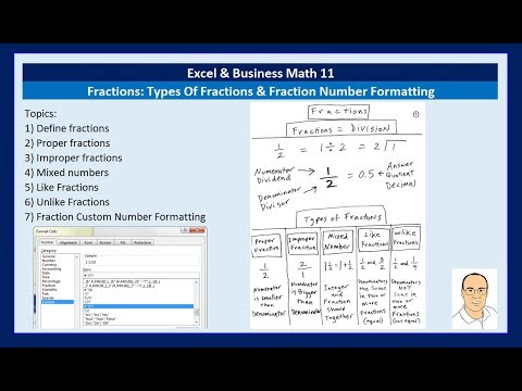 Excel & Business Math 11: Types Of Fractions & Fraction Number Formatting