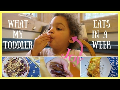 What My Toddler Eats In A Week 😋