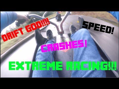 Extreme Luge Racing Rotorua! [I crashed!] Skyline Luge New Zealand