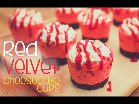 No bake Red Velvet Cheesecake Cups - CAKE QUIRK
