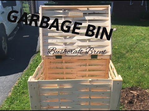 Basket Weave Garbage Bin | Woodworking with Bushcraft Brent
