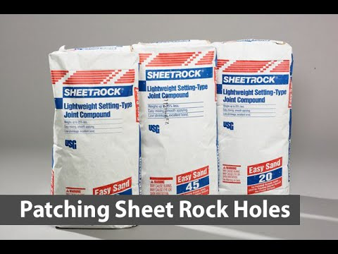 Patching Holes in Sheet Rock Fast.  Drywall Patching Hacks.