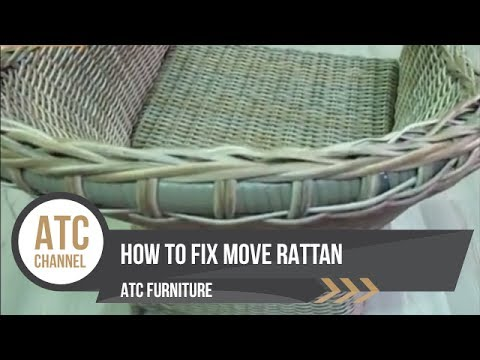 How To Fix Move Rattan | Wicker Furniture | ATC Furniture 2017