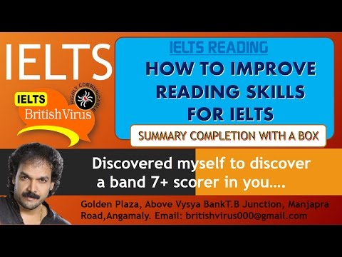 IELTS  by British Virus - Video 11 :HOW TO IMPROVE READING SKILLS FOR IELTS