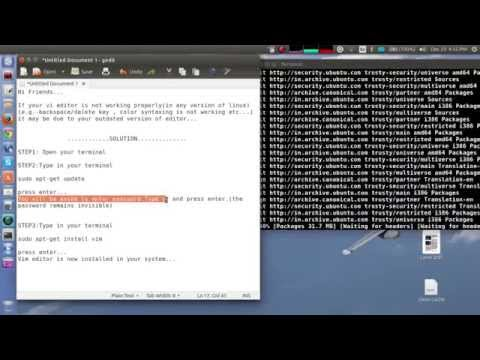 Backspace and arrow keys not working in (how to fix)vi/vim editor in ubuntu 14.04 /linux mint