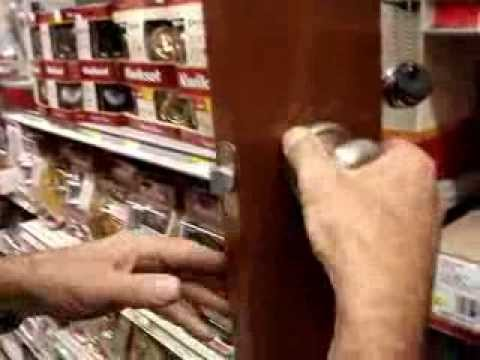 Tighten loose door handles hidden screws, Kwikset Schlage Yale Ezset Mortice
