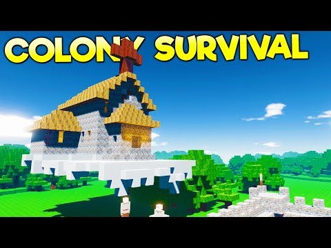 FLOATING SKY TEMPLE IN THE CLOUDS! Safe, Secret Underground Passages - Colony Survival Gameplay